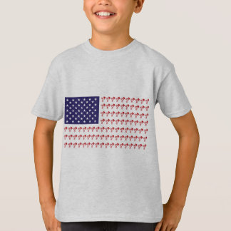 BMX Biker Patriotic Flag T-Shirt