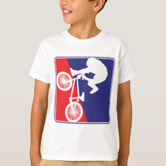 BMX Biker Red White and Blue T-Shirt