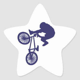 BMX Biker Star Sticker
