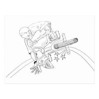 BMX Cartoon Postcard