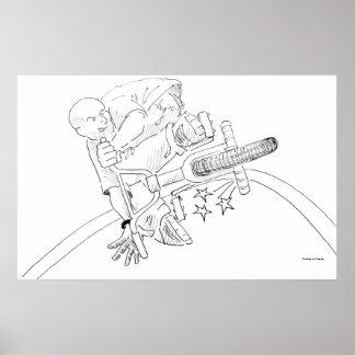 BMX Cartoon Poster