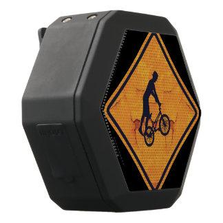 BMX caution sign Black Bluetooth Speaker