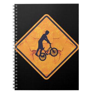 BMX caution sign Notebook