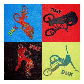 BMX color explosion, Copyright Karen J Williams Poster