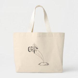 BMX dirt jumper graphic cartoon illustration Jumbo Tote Bag