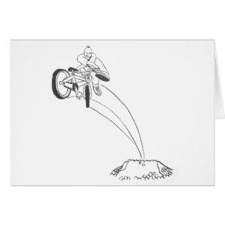 BMX dirt jumper graphic cartoon illustration Greeting Card