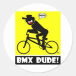 BMX DUDE-18 PEGATINA REDONDA