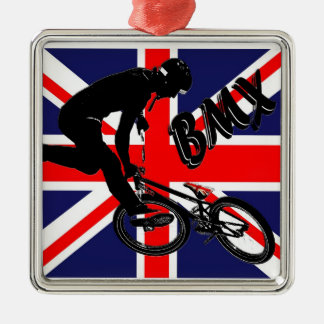 BMX England style, Copyright Karen J Williams Metal Ornament
