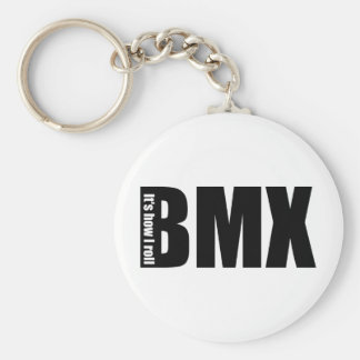BMX - Es cómo ruedo Llavero Redondo Tipo Pin