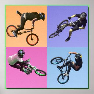 BMX Extreme Pop Art 2 Copyright Karen J Williams Posters