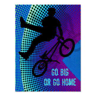 BMX  Fractal Movie Marquee Go Big Go Home Poster