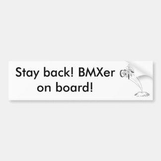 BMX freestyle dirt jumper x up tailwhip drawing Bumper Sticker