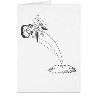 BMX freestyle dirt jumper x up tailwhip drawing Greeting Card
