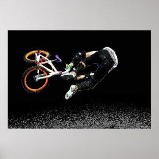 BMX Glow 1,  Copyright Karen J Williams Poster