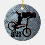BMX gobierna el ornamento del navidad, Wi de Adorno Navideño Redondo De Cerámica