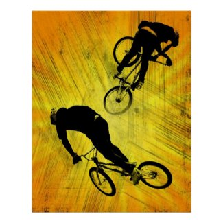 BMX GRUNGE, Copyright Karen J Williams print