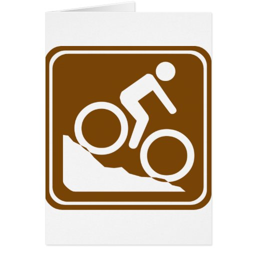 BMX Highway Sign Greeting Card