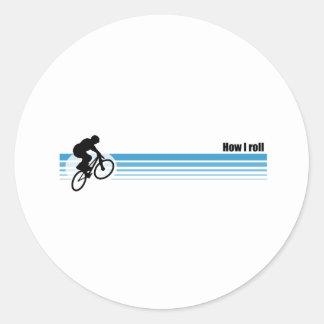 BMX - How I roll Round Stickers