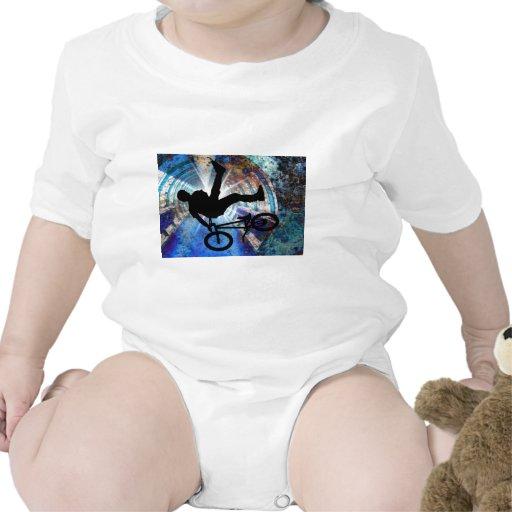 BMX in a Grunge Tunnel Baby Bodysuit