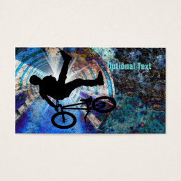 BMX in a Grunge Tunnel Business Card