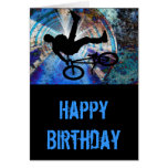BMX in a Grunge Tunnel Greeting Card