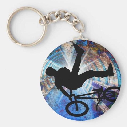 BMX in a Grunge Tunnel Keychain