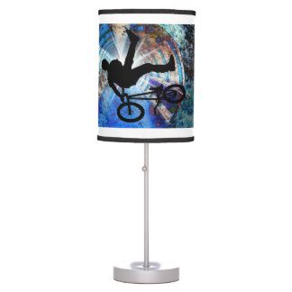 BMX  in a Grunge Tunnel on ANY COLOR BACKGROUND Desk Lamp