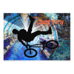 BMX in a Grunge Tunnel Personalized Invite