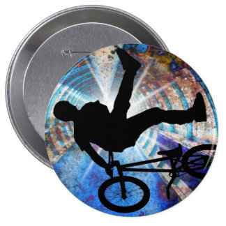 BMX in a Grunge Tunnel Pinback Button