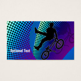 BMX in Fractal Movie Marquee Business Card