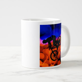 BMX in Light Crystals and Lightning Large Coffee Mug