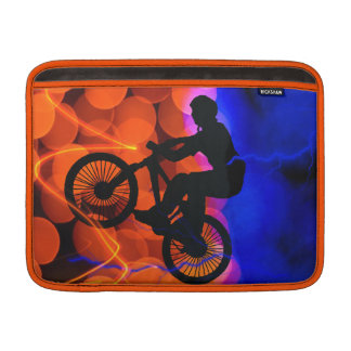BMX in Light Crystals and Lightning MacBook Air Sleeves