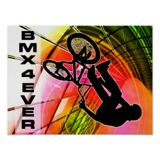 BMX in Lines & Circles BMX 4 Ever Poster