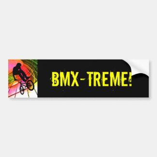 BMX in Lines & Circles Bumper Sticker