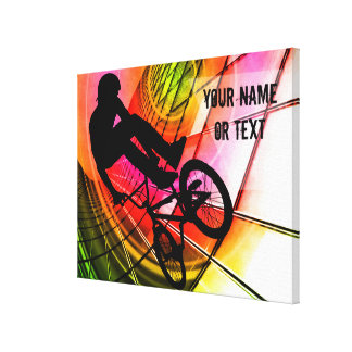 BMX in Lines & Circles Customize Canvas Print
