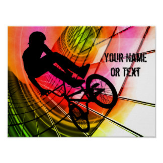 BMX in Lines & Circles Customize Poster