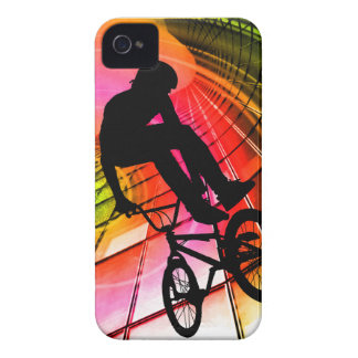 BMX in Lines & Circles iPhone 4 Case-Mate Case