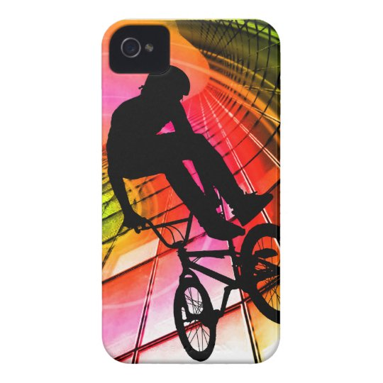 BMX in Lines & Circles iPhone 4 Cover