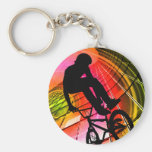 BMX in Lines & Circles Keychain