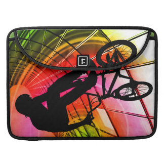 BMX in Lines & Circles MacBook Pro Sleeves