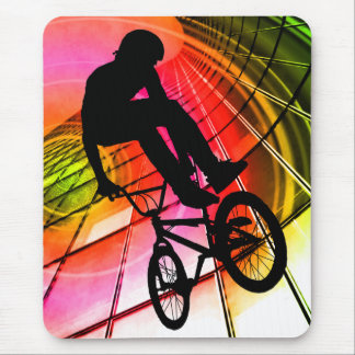 BMX in Lines & Circles Mouse Pad