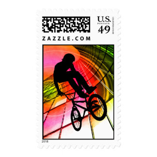 BMX in Lines & Circles Stamp