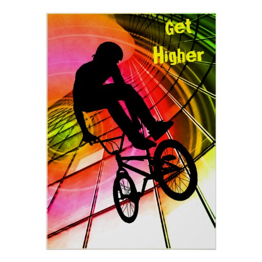 BMX in Lines & Circles Posters