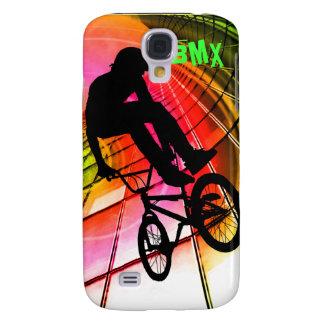 BMX in Lines & Circles Samsung Galaxy S4 Case