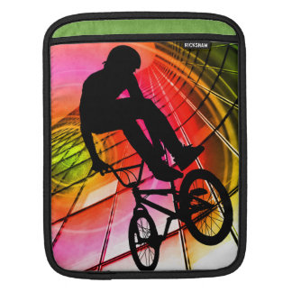 BMX in Lines & Circles Sleeves For iPads