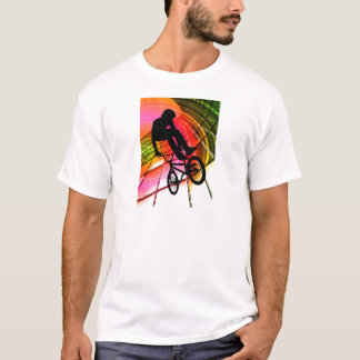 BMX in Lines & Circles T-Shirt