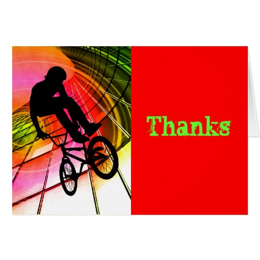 BMX in Lines & Circles Thanks Card