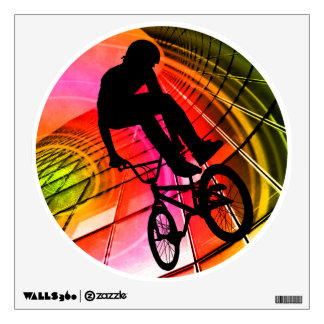 BMX in Lines & Circles Wall Sticker