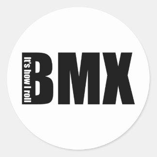 BMX - It's How I Roll Classic Round Sticker