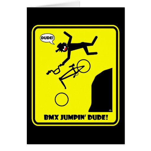 BMX JUMPIN'-21 TARJETA DE FELICITACIÓN